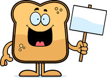 Cartoon Toast Sign Royalty Free Stock Images