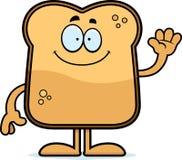 Cartoon Toast Waving Stock Photography