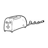 Cartoon toaster Royalty Free Stock Images