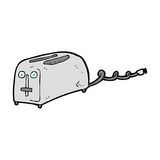 Cartoon toaster Stock Photos