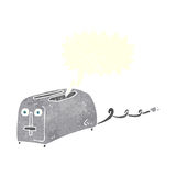 Cartoon toaster with speech bubble Royalty Free Stock Photos