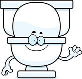 Cartoon Toilet Waving Stock Photo