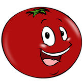 Cartoon Tomato Stock Photo