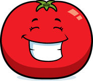 Cartoon Tomato Grinning Royalty Free Stock Photo