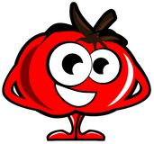 Cartoon tomato isolated illustration Royalty Free Stock Images