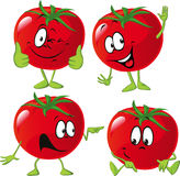 Cartoon tomato with many expression, hand and leg Stock Photo