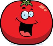 Cartoon Tomato Smiling Stock Image