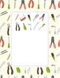Cartoon tool card Royalty Free Stock Images