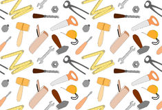 Cartoon tools semaless pattern, illustration Stock Images