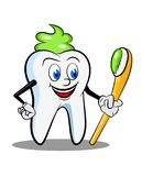 Cartoon tooth Stock Photography
