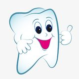Cartoon tooth  Royalty Free Stock Image