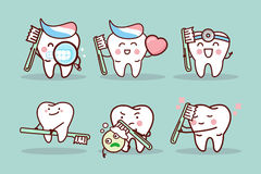 Free Cartoon Tooth Brush And Clean Stock Photo - 86069260