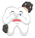 Cartoon tooth with caries Stock Image