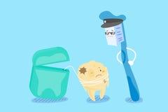 Cartoon tooth decay Royalty Free Stock Photo