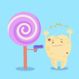 Cartoon tooth decay Royalty Free Stock Images