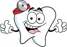 Cartoon tooth giving thumbs up Stock Photography