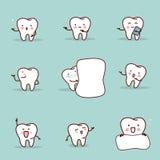 Cartoon tooth introduce  something set Stock Photography