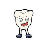 Cartoon tooth looking smug. Hand drawn cartoon illustration in retro style.  Vector available Stock Photo