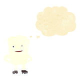 Cartoon tooth looking smug with thought bubble Royalty Free Stock Images