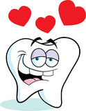 Cartoon tooth in love Stock Images