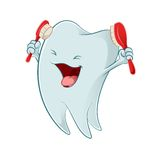 Cartoon tooth Stock Images