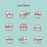Cartoon tooth wear brace Stock Photo