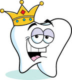 Cartoon tooth wearing a crown Stock Photography