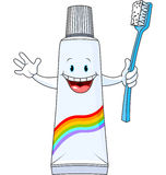 Cartoon Toothpaste Character Royalty Free Stock Image