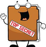 Cartoon Top Secret Folder Happy Royalty Free Stock Images