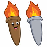 Cartoon Torch. Vector illustration of cartoon torch for design element Royalty Free Stock Photography