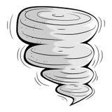 Cartoon tornado. Stock Image