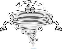 Cartoon Tornado Sleeping Royalty Free Stock Image