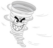 Cartoon tornado on white background Royalty Free Stock Photo