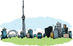 Cartoon Toronto Royalty Free Stock Photos
