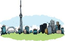 Cartoon Toronto. Cartoon of the downtown of the city of Toronto, Ontario, Canada Royalty Free Stock Photos