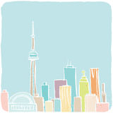 Cartoon Toronto Sketch Royalty Free Stock Photos
