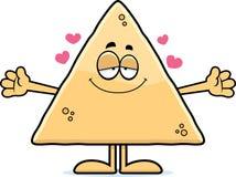 Cartoon Tortilla Chip Hug Royalty Free Stock Images