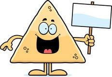 Cartoon Tortilla Chip Sign Stock Images