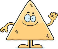 Cartoon Tortilla Chip Waving Royalty Free Stock Photography