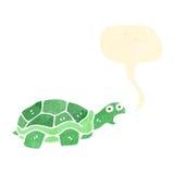 Cartoon tortoise. Retro cartoon with texture. Isolated on White Stock Image