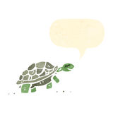 Cartoon tortoise. Retro cartoon with texture. Isolated on White royalty free illustration