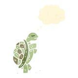 Cartoon tortoise. Retro cartoon with texture. Isolated on White Royalty Free Stock Photo