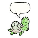 Cartoon tortoise. Retro cartoon with texture. Isolated on White Royalty Free Stock Image