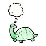 Cartoon tortoise. Retro cartoon with texture. Isolated on White Royalty Free Stock Photography
