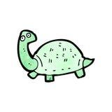 Cartoon tortoise. Retro cartoon with texture. Isolated on White Royalty Free Stock Photos