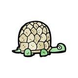 Cartoon tortoise. Retro cartoon with texture. Isolated on White Stock Images