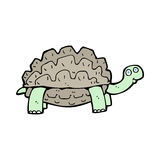 Cartoon tortoise. Hand drawn cartoon illustration in retro style. Vector available royalty free illustration