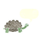Cartoon tortoise with speech bubble Royalty Free Stock Images