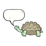 Cartoon tortoise with speech bubble Stock Images