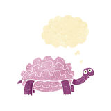 Cartoon tortoise with thought bubble vector illustration